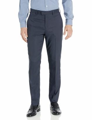 Axist Men's Flat Front Regular Fit Textured Dress Pant