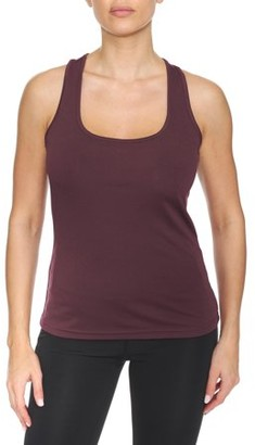 BSP Women's Active Performance Tank Top with Laser Cut Diamond Pattern