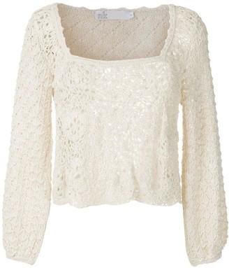 Nk Crochet Long Sleeves Blouse