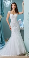Mon Cheri Enchanting Mermaid Applique Wedding Gown