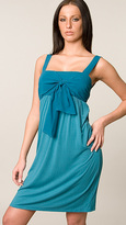 Twelfth St. By Cynthia Vincent Dark Teal Tie Front Tank Dress