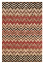 Dash & Albert 'Bargello' Hand Woven Chevron Jute & Cotton Rug