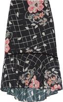 Raoul Ivy Swing ruffled printed chiffon skirt