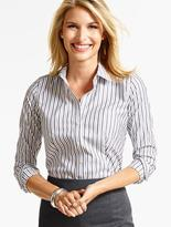 Talbots The Perfect Long-Sleeve Shirt - Warwick Stripes