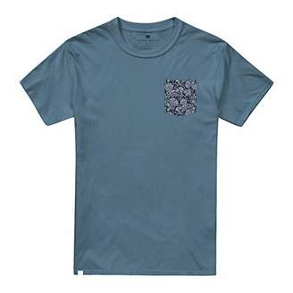 Putney Bridge Men's Vintage Floral T-Shirt, (Indigo Blue Ind), X (Size:)