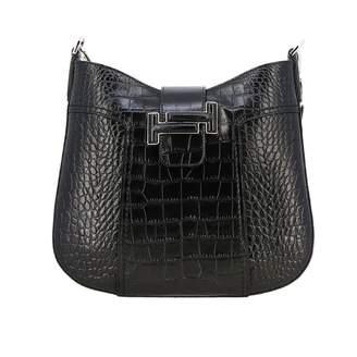 Tod's Dot Hobo Small Shoulder Bag In Crocodile Print Leather