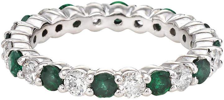One Kings Lane Vintage Emerald Diamond Eternity Ring - Precious & Rare Pieces