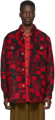 Versace Red GV Shirt Jacket