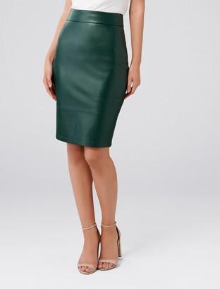 Ever New Amy PU Pencil Skirt