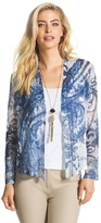 Chico's Painted Blue Ronnie Cardigan