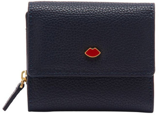 Lulu Guinness Navy Pop Out Lip Jodie Wallet