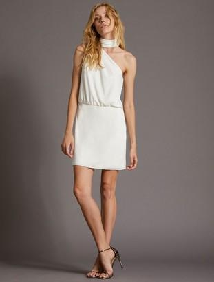 Halston Scarf Neck Dress