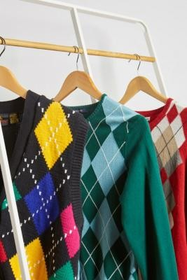 Urban Renewal Vintage Argyle Cardigan - Assorted ALL at Urban Outfitters