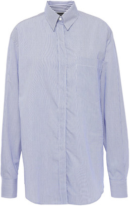 Joseph Gibson Paneled Striped Cotton-blend Poplin Shirt