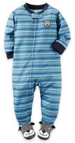 Carter's Stripe Dog Feet Pajama in Blue
