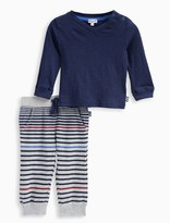 Splendid Baby Boy Jersey Top with Reverse Striped Pant