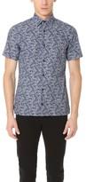 Z Zegna Floral Print Short Sleeve Shirt