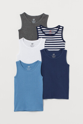 H&M 5-pack Cotton Tank Tops