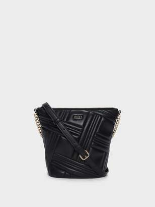DKNY Allen Small Leather Bucket Bag
