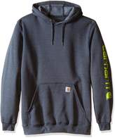 Carhartt Men's Big-Tall Midweight Signature Sleeve Logo Sweatshirt Hooded