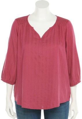 Sonoma Goods For Life Plus Size Peasant Blouse
