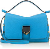 Jimmy Choo LOCKETT/S Robot Blue Grainy Leather and Black Nappa Handbag