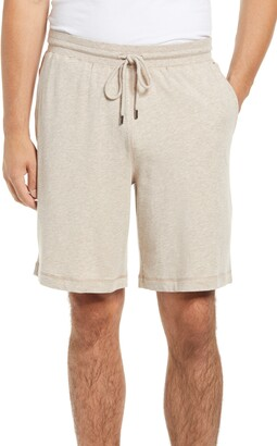 Daniel Buchler Heathered Drawstring Lounge Shorts