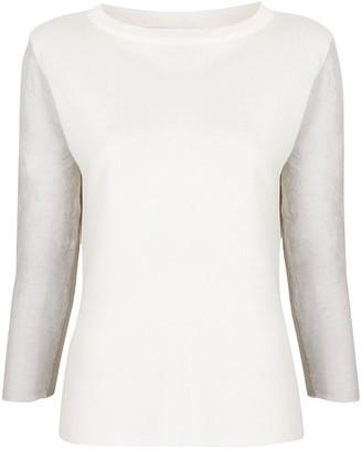 Fabiana Filippi panelled 3/4 sleeves pullover