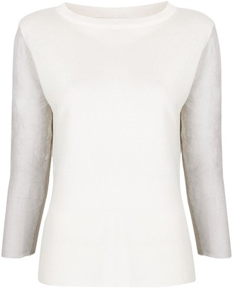 Fabiana Filippi Panelled 3/4 Sleeves Pullover