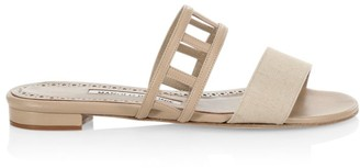 Manolo Blahnik Abbey Flat Sandals