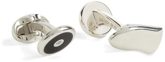 Deakin & Francis Sterling Silver, Onyx And Diamond Cufflinks