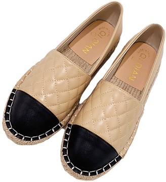Goodnight Macaroon 'Nina' Quilted Faux Leather Espadrilles (2 Colors)