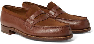 J.M. Weston 180 The Moccasin Full-Grain Leather And Suede Penny Loafers