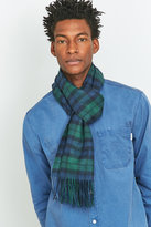 Urban Outfitters Navy And Green Plaid Scarf