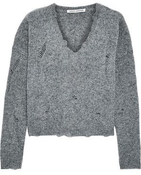 Autumn Cashmere Distressed Melange Cashmere Sweater