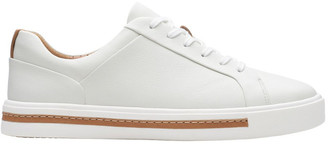 Clarks Un Maui Lace White Leather Sneaker
