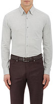 Ermenegildo Zegna Men's Cotton Button-Down Shirt-LIGHT GREY