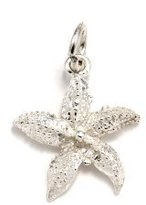 silverjewelryforever .925 Sterling Silver Sea Starfish Charm