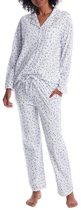 Eileen West English Bouquet Knit Pajama Set