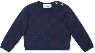 Gucci Kids GG jacquard knitted jumper