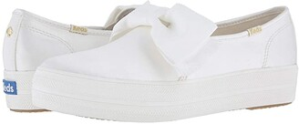 Kate Spade Keds x Bridal Triple Decker Bow (Cream Satin) Women's Shoes