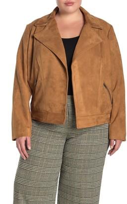 Philosophy di Lorenzo Serafini Faux Suede Zip Pocket Jacket (Plus Size)