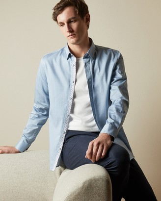 Ted Baker HAMTIE Geo print cotton shirt