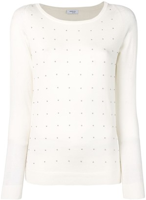 Akris Punto bead embellished knitted top