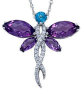 JCPenney FINE JEWELRY Lab-Created Amethyst Dragonfly Sterling Silver Pendant Necklace