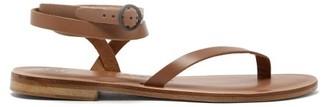 Álvaro González Arubina Wraparound Leather Sandals - Tan