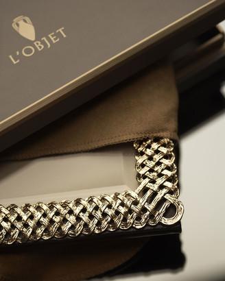 "L'OBJET Gold Braid 4"" x 6"" Picture Frame"