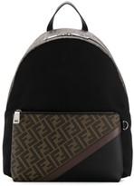 Fendi monogram print backpack