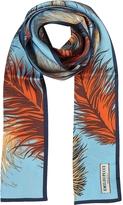 Emilio Pucci Feathers Print Silk Long Scarf