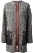 bouclé knit coat
